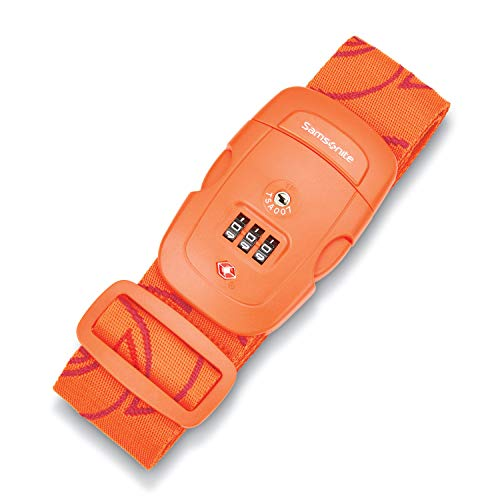 Samsonite Luggage Strap, Orange Tiger, Combination Lock