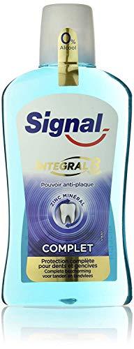 Signal Integral 8 Bain de Bouche Antibactérien, Protection Complète pour les Dents et les Gencives, Aide à lutter contre les Bactéries 500ml