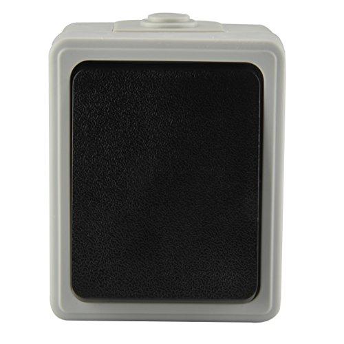 UNITEC 46240L A/W-Schalter AP FR dunkelgrau,