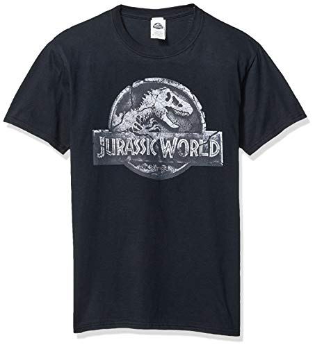 Jurassic Park Herren Officially Licensed Jurassic World Return Graphic Tee T-Shirt, Schwarz/Rückgabe-Logo, X-Groß
