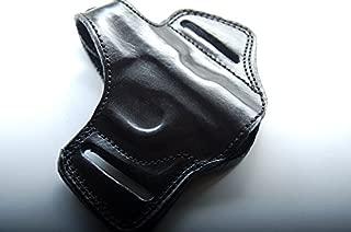 cal38 Handcrafted Leather Belt Holster for Colt 1908 Vest Pocket 25 ACP/6.35 (R.H) Tan Black