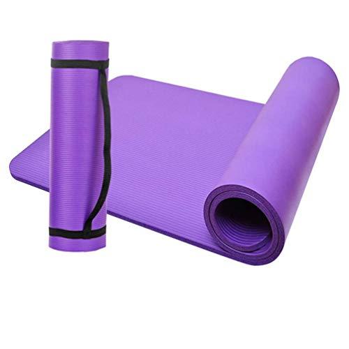 D-Work - Alfombra de suelo para gimnasia, fitness, yoga, 183 x 61 x 1 cm, NBR (morado)