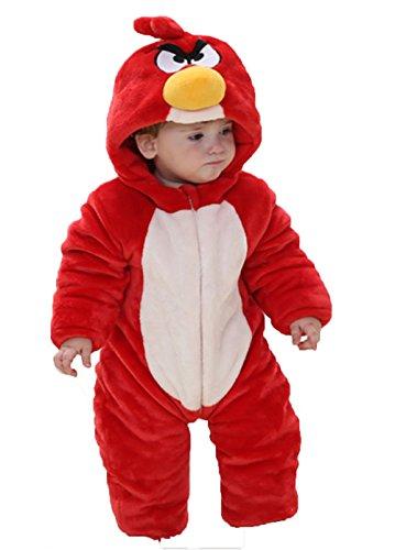 OHmais Bébé Fille garçon Unisexe Grenouillère Costume Deguisement Combinaison Pyjamas Hiver Oiseaux
