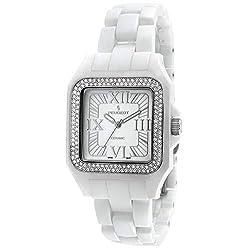 White Square Case with Swarovski Crystal Bezel and Bracelet