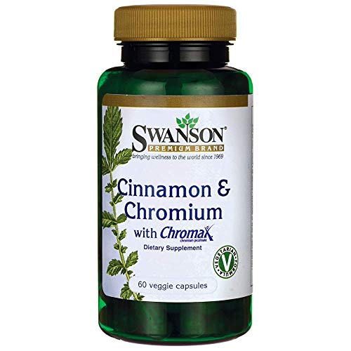 Swanson Cinnamon & Chromium with Chromax 60 Veg Capsules