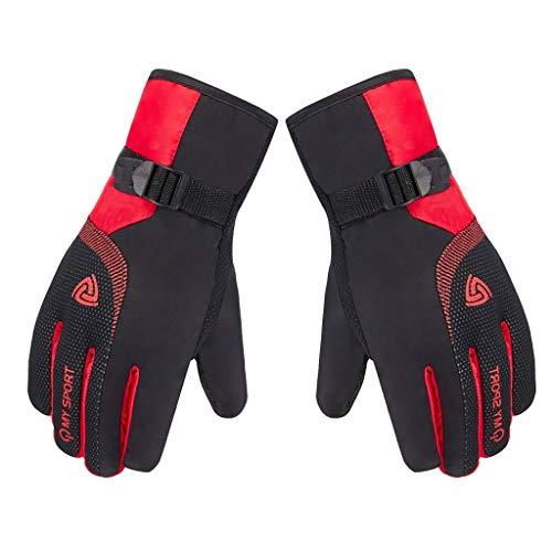 Skihandschuhe Winter Handschuhe für Herren mit Touchscreen-Finger,Winddichte Rutschfestes Insulated Warmers Gloves Leicht und Strapazierfähig Sport Ski Handschuhe für Skifahren Radfahren