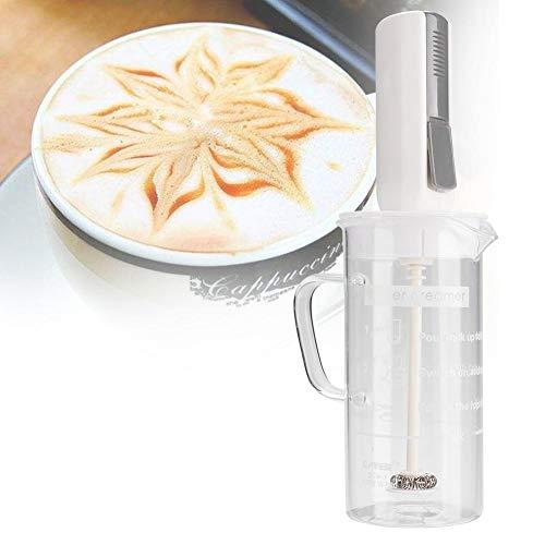 Batidora de mano, espumador de leche de operación con un botón, liviano inalámbrico con vaso para hacer capuchino, café con leche, batidos de leche, accesorio de cocina para el hogar, café