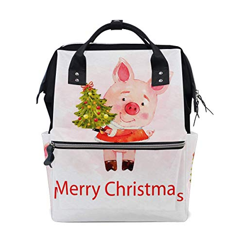 FHTDH Körperpflege Baby- und Kinderpflege Wickeln Wickeltaschen Rucksäcke Diaper Bags Backpack Purse Mummy Backpack Nappy Bag Cool Cute Travel Backpack Laptop Backpack with Red Floral Pattern Daypack
