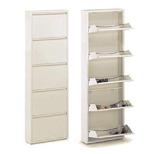 Dcasa Metal 5 Cajones Zapateros-Accesorios de almacenaje de Armario Artículos para el hogar Unisex Adulto, Color, única