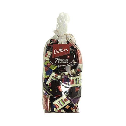 VILLARS MAITRE CHOCOLATIER SUISSE -7 RECETTES FLAVOURS DE CHOCOLAT DE PAQUES lait-lait noisettes-lait caramel- noir 72%-noir noisettes-noir café-noir croquant 500gr
