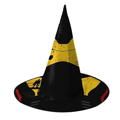 NUJSHF Pacific Rim Jaeger Sombrero de Bruja para Halloween, Unisex, Disfraz para Vacaciones, Halloween, Navidad, Carnaval, Fiesta