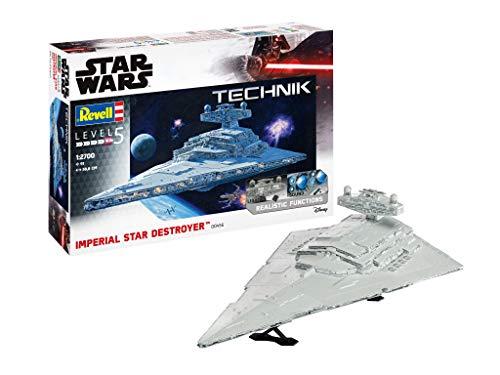 Revell 00456 Technik Star Wars Sternenzerstörer originalgetreuer Modellbausatz für Experten, mit elektronischen Komponenten, 1:2700/58,8 cm