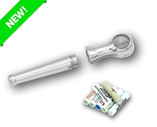 LX Pipes Athletic Medium 2.0 – Edelstahl Rauchpfeife mit 9 mm Einsatz für Aktivkohlefilter - Filtert bis zu 70% der Schadstoffe – Tabakpfeife Made in Germany