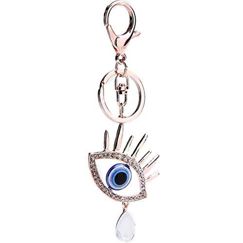 Schlüsselanhänger Taschenanhänger Strass Keychain Elegant Augen Metall Auto-Anhänger Schlüsselring Tasche Keychain Handtaschenanhänger Dekor