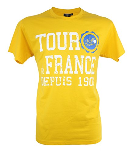 Le Tour de France Herren T-Shirt, offizielle Kollektion, Erwachsenengröße M gelb