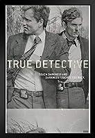 Pyramid America True Detective Film ネガティブブラック木製フレームアートポスター 14x20
