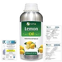 Lemon (Citrus limonum) 100% Natural Pure Essential Oil 2000ml/67 fl.oz.