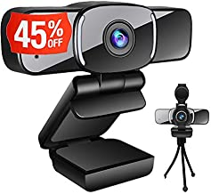 Computer Camera with Webcam Cover,LarmTek Webcam with Microphone Support for PC Laptop Mac,Widescreen Video Calling and Re...