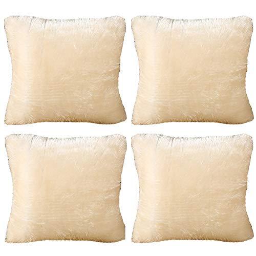 WDHXD Cojines suaves al tacto y aspecto más hermosos, adecuados para sala de estar, cama, sofá, silla, asiento de ventana, tienda de café (4 piezas)
