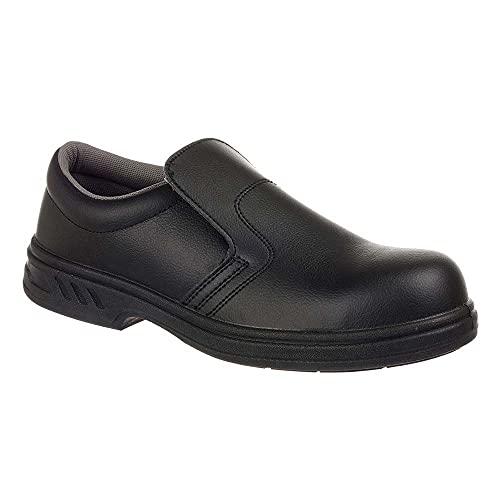 Portwest FW81 - Slip-On de seguridad S2 Zapato, color Negro, talla 35