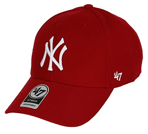 47 MLB New York MVP Casquette Mixte, Rouge Taille Unique