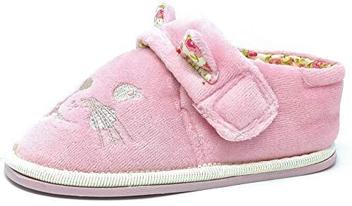 Carcassi Chaussons chaussons chaussons pour enfants filles garçons Lion Chat Rose Tan Lime Taille...