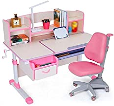 Kids Desk and Chair Set Kids Furniture Multifunctional Study Table Workstation for School Students, Height Adjustable for ...