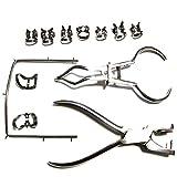 Dique De Goma Starter Kit, 12-Piezas Conjunto De Herramientas Dental Piercing, Acero Inoxidable...