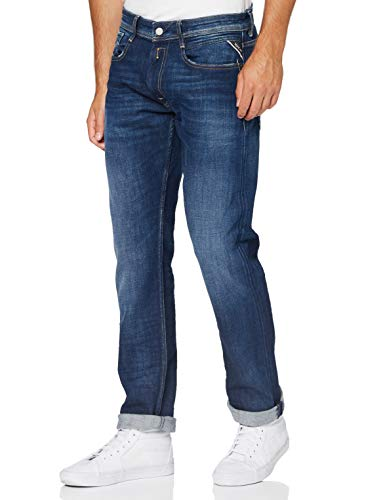 Replay Herren Rocco Jeans, 7 Dark Blue, 32/32