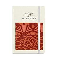 瑞雲波パターンの中国の日本のスタイル 歴史ノートクラシックジャーナル日記A 5