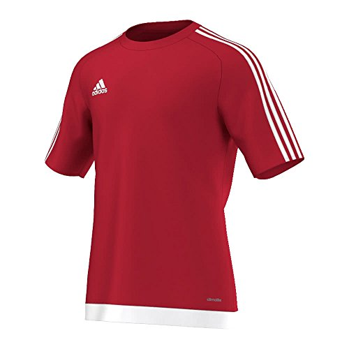 Adidas Estro 15, camiseta para hombre, niño, color power red/white, tamaño 10...