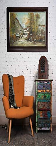 A.Monamour Pegatinas Decorativas de Puerta Autoadhesivo 3D Salón Interior Sillón Naranja Coloridos...