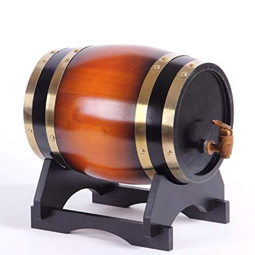 ZSYGFS Barril Roble Barril De Vino, Barricas De Roble De Cubas, Barriles De Vino Tinto Seco 3L5L10L20L (Color : E, Size : 10L)
