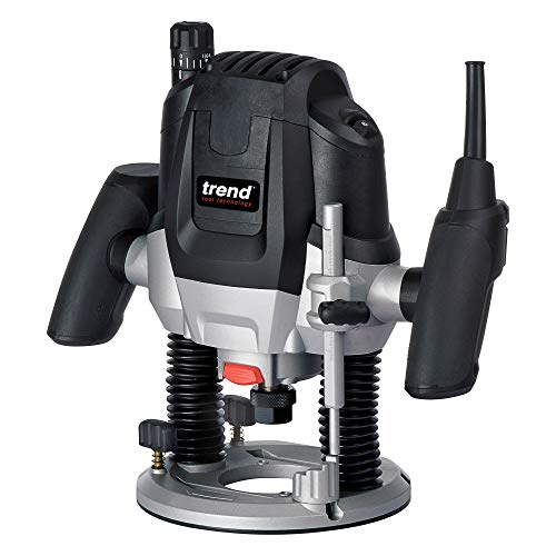 Trend T7EK 1/2 Variable Speed Workshop Router and Kitbox, 2100 W, 240 V, Black, Regular