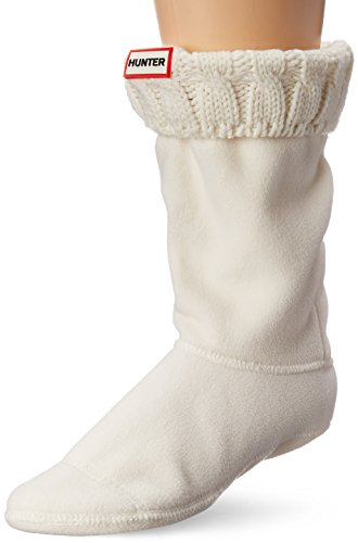 6 Stitch Cable Boot Sock Short - Natural White