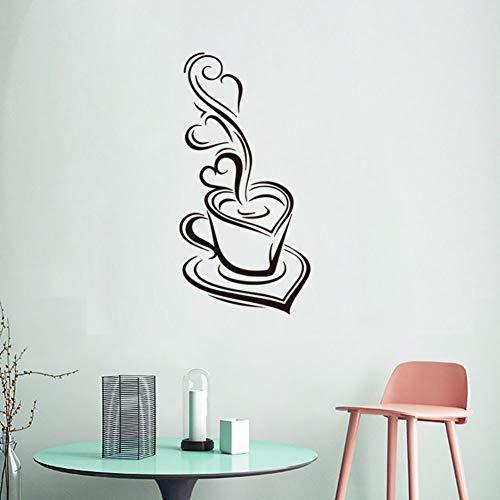 DALAO muurstickers, koffiemok, muurstickers, levensmiddelen, decoratie voor de keuken van het restaurant