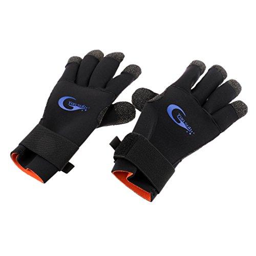 Fenteer Guabtes de Esqui de Neopreno Regalo para Amigo de Color Negro para Deportes de Invierno Impermeable - XL