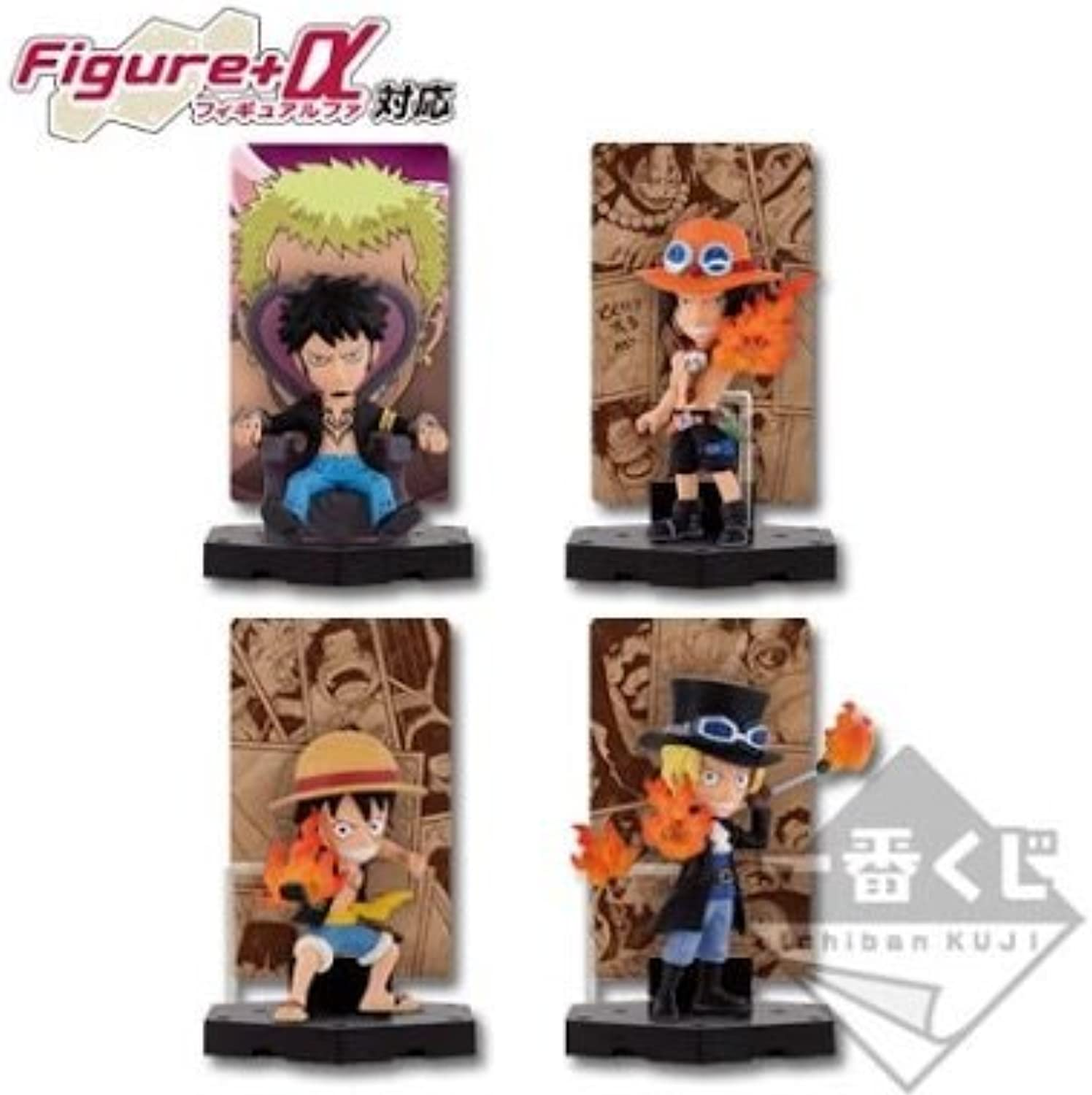 Most lottery Piece Heated ties ed E Award card stand figure all four Sabo Ace Luffy Low