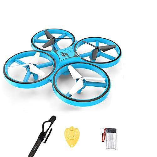 ZUOQUAN Mini Drone per Bambini, Quadricottero con RC, Rilevazione di gravità Evitamento degli Ostacoli A Infrarossi, Funzione Lancia&Vola, Flip 3D, Luce LED, modalità Senza Testa,Blu