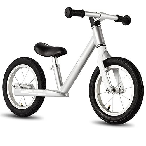 Wushu Marco De Aleación De Aluminio Bicicleta De Equilibrio First Bike para Niños de 2 A 7 Años Bici para Aprender A Mantener El Equilibrio(Color:Blanco)