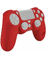 Trust Gaming GXT 744 - Funda de silicona para mando PS4, color rojo