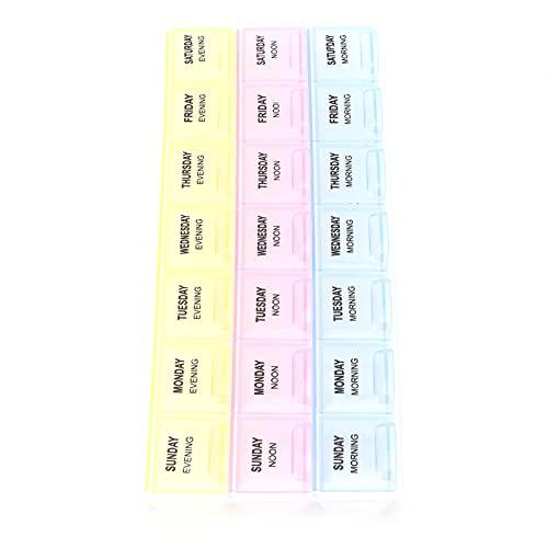 needlid Contenitore di stoccaggio, Contenitore per Organizer in plastica con coperchi di Chiusura Design per Decorazioni per Unghie per la conservazione di Piccole Parti