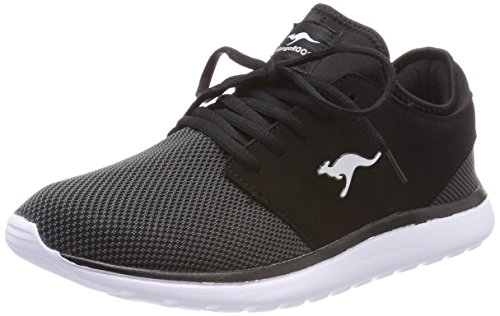 KangaROOS KangaROOS Unisex-Erwachsene Sumpy Sneaker, Schwarz (Jet Black/Steel Grey), 42 EU