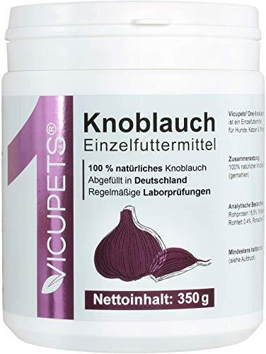 Vicupets ONE I Knoblauchpulver für Hunde, Pferde & Katzen I Alternative zu Knoblauchtabletten oder Knoblauchgranulat I 100% Knoblauch I Garlic Powder I 350g