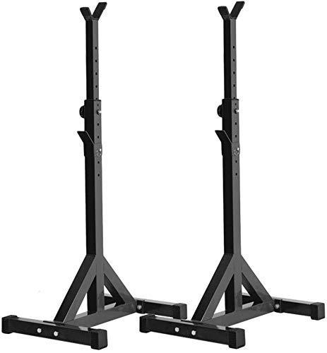 TAOBEGJ Pesos de Trabajo Pesado Barras Soportes en Cuclillas Barbell Rack Spotter Gimnasio Fitness Power Holder,Black
