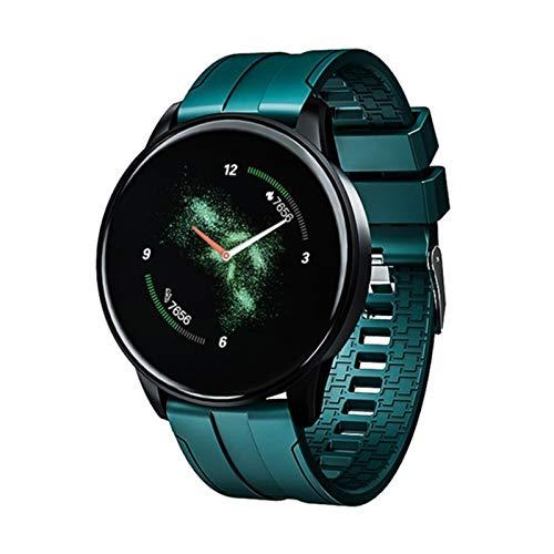 YYZ Reloj inteligente Bluetooth para hombre de presión arterial reloj inteligente reloj de mujer deportivo Tracker Whatsapp, C