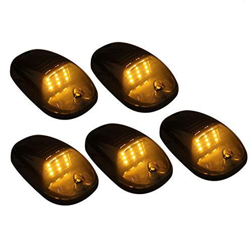 LUKUCEA LED Seitenmarkierungsleuchten 12V Begrenzungsleuchte für Auto LKW Anhänger SUV Van Wasserdicht Markierungsleuchten E-geprueft-WildAuto (5pcs),Gelb