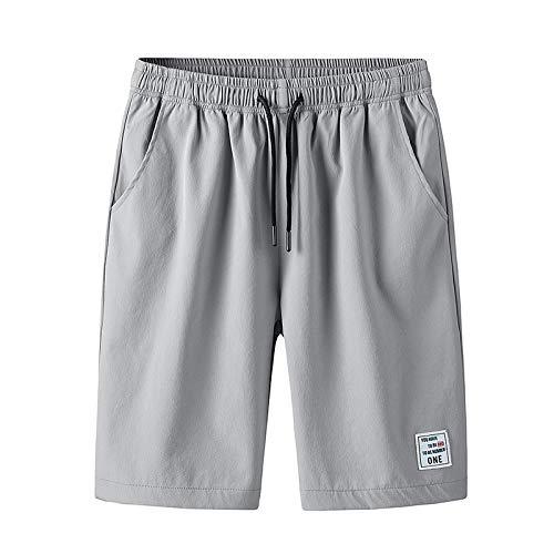Monos Casuales básicos para Hombres, Pantalones de chándal de Moda de Calle Ajustados de Verano, con cordón de Cintura elástica XL