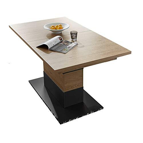 Bianco Esstisch aus Wildeiche Dekor - ausziehbarer Esszimmertisch für Ihr Wohn- & Esszimmer - 160-210 x 75 x 90 cm (B/H/T)