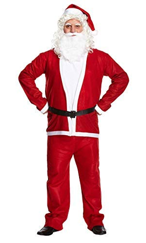 Costume Babbo Natale uomo, rosso, XX-LARGE